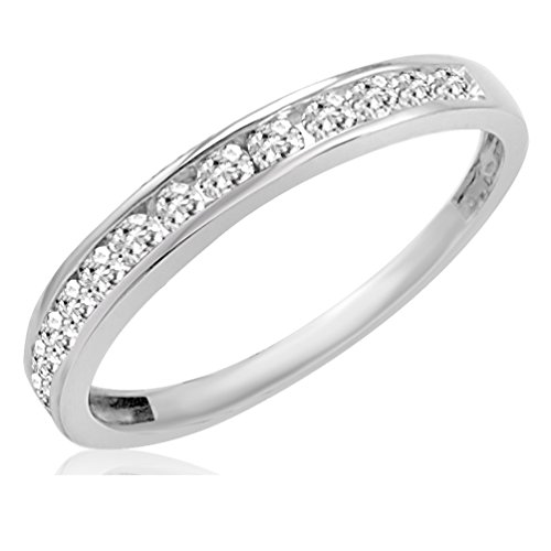 IGI Certified 10K White Gold Diamond Anniversary Ring ( 1/2ct available sizes 5-9) sz7