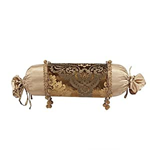 Decorative Bolster Pillow Black : Amazon.com - Traditional Velvet Decorative Bolster Pillow Cover - Pillowcases