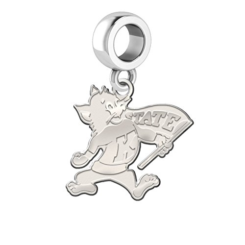 Kansas State Wildcats Natural Finish Dangle Charm