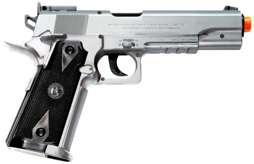 TSD Sports 1911 CO2 Gas Powered Non-Blowback Airsoft Pistol with Case (Silver)