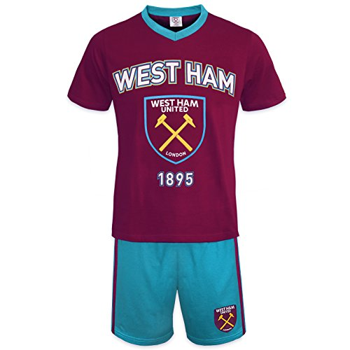 West Ham United FC Official Soccer Gift Mens Loungewear Short Pajamas Medium (West Ham United Fc Shorts compare prices)