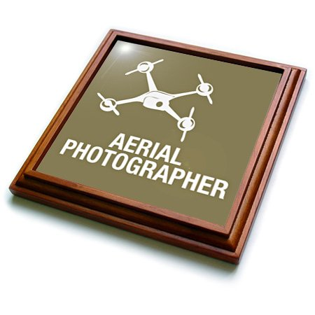 Trv_179925_1 Kike Calvo Drone And Unmanned Vehicle Collection - Brown Drone, Aerial Photographer - Trivets - 8X8 Trivet With 6X6 Ceramic Tile