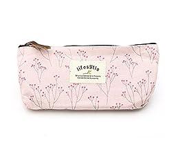 leegoal Canvas Pen Bag Pencil Case, Brand New, Different Colors,set of 4 Light Pink, 1Set