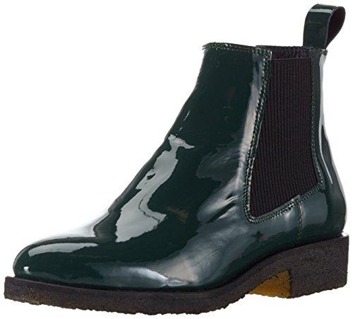 Shoe Biz Benita, Stivali Chelsea Donna, Verde (Patent Bottle Green), 39 EU