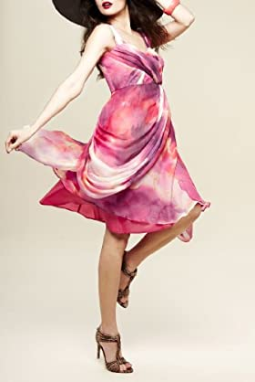 Per Una Speziale Pure Silk Pleated Dress [T62-8837H-S]