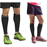 Calf Compression Sleeve - BeVisible Sports Men and Women's Leg Compression Sleeves - True Graduated Compression - Calf Guard Shin Splints Sleeves - Best for Basketball, Running, Baseball, Walking, Cycling, Training and Travel - Boosts Circulation - Aids Faster Recovery - 1 Pair - Satisfaction Guaranteed