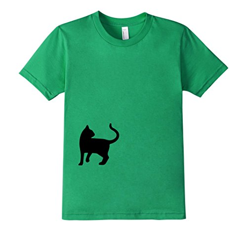 Kids-EmmaSaying-Dont-Look-Back-In-Anger-Cat-Silhouette-T-Shirt-Kelly-Green