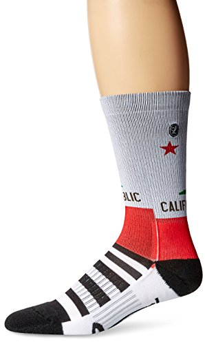 Legends novelty iconic scenic and destination printed socks, California Republic, One Size