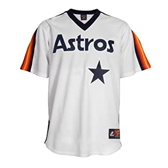 MLB Houston Astros 1986 Cooperstown Short Sleeve Synthetic Replica Jersey by Majestic