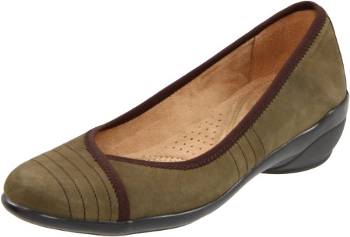 Naturalizer Women's Novel Flat,Olive,5 M US