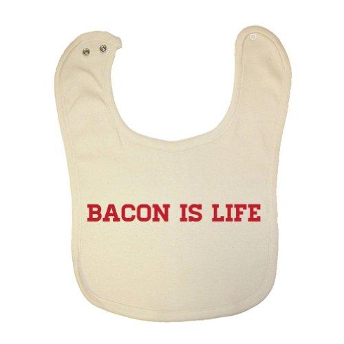 Mashed Clothing Unisex Baby Bacon Is Life Organic Baby Bib