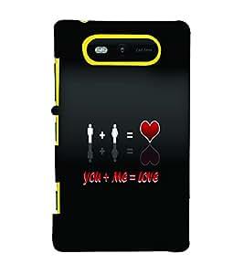 PrintVisa Romantic Love Quotes 3D Hard Polycarbonate Designer Back Case Cover for Nokia Lumia 820