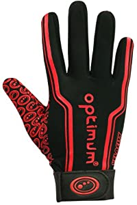 Optimum Boy's Velocity Thermal Rugby Gloves - Black/Red, X-Small