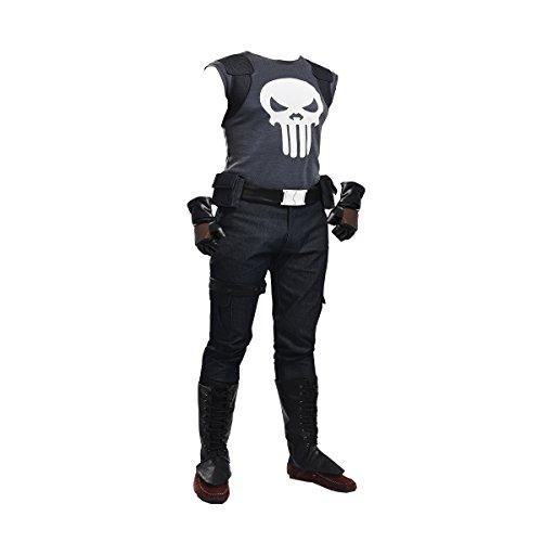 [MLYX Men's the Punisher Frank Castle Cosplay Costume Large] (Punisher Cosplay Costume)