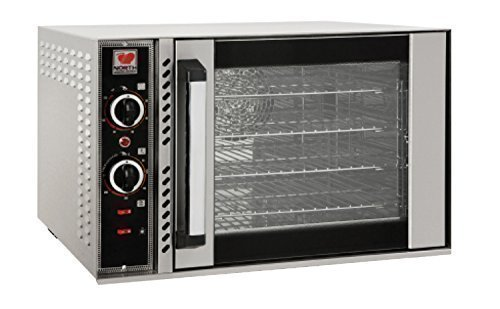North Pro Gas FK45 Commercial Electric Convection Oven with 4 Shelves for 4 Trays 400x400mm - LxWxH: 690x635x470mm (230V-AC / 400V-2N-AC-50Hz) (Made in Greece)