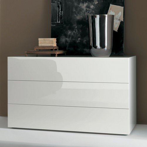 White 3 Drawer Chest front-213580