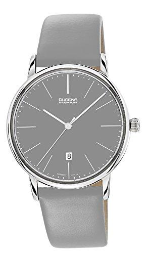Dugena Premium  - Reloj de cuarzo para hombre, con correa de cuero, color gris