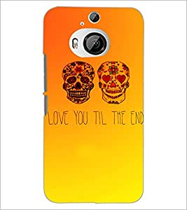 PrintDhaba Quote D-3471 Back Case Cover for HTC ONE M9 PLUS (Multi-Coloured)