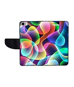 KolorEdge Printed Flip Cover For Redmi Xiaomi MI3 Multicolor -(50KeMLogo12466XiaomiMI3)