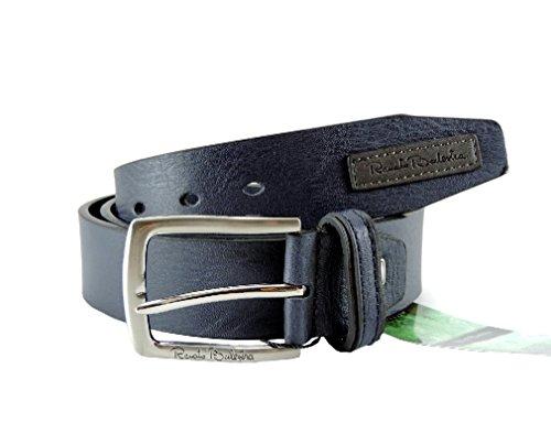 Cintura uomo in Simil PELLE Renato Balestra misura utile girovita 105-115 disponibile in vari colori -BLU con Scatola di Latta