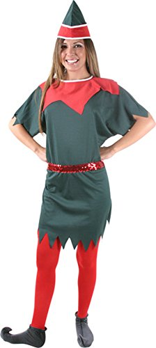 "Adult Women's Elf Costume (Size: Standard 6-10 With 50"" Bust)"