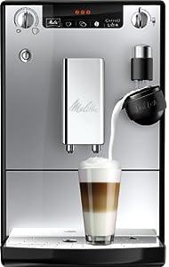Melitta Kaffeevollautomat Caffeo LatteA, Milchdusche, Aromaeinstellung, E 955-103 schwarz-silber