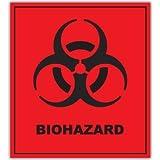 "BIOHAZARD Danger Warning sign sticker decal 4"" x 5"""