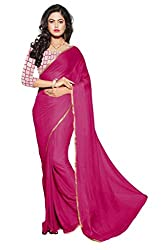 Reveka Pink Nazneen Saree With Embroidery Blouse