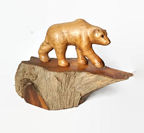 Polar Bear Wood Carving (Wood Carving Bear compare prices)