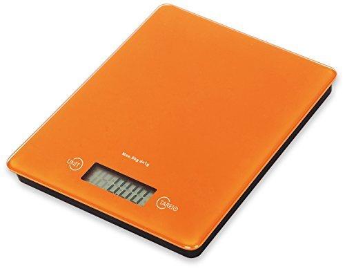 V.C.Formark Tempered Glass Surface Digital Multifunction Kitchen and Food Scale,Orange by V.C.Formark