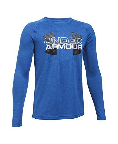 Under Armour Boys' UA Tech Big Logo Hybrid Long Sleeve T-Shirt Youth X-Large ULTRA BLUE