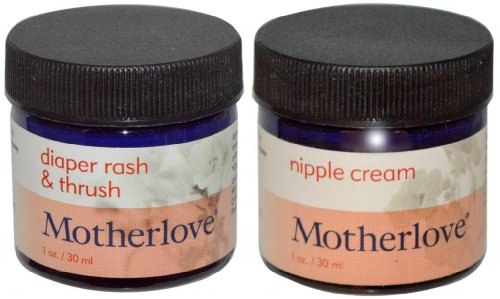 Motherlove Organic Nipple Cream 1 Oz. With Diaper Rash & Thrush Salve 1 Oz.