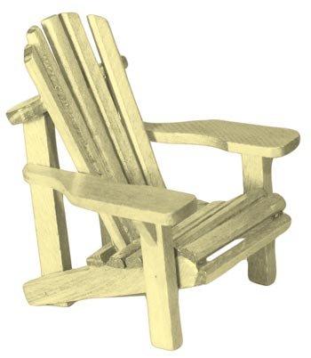 Adirondack Chair Miniature Replica, White (Made of Wood) 4