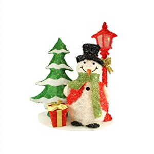 35 lighted tinsel sisal snowman lamp post for Amazon christmas lawn decorations