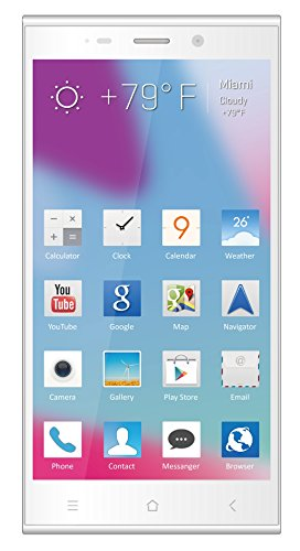 Blu Life Pure Xl Full Hd, 16Mp, 2.2Ghz Quad Core, (16Gb+2Gb Ram) - Unlocked Cell Phones - Retail Packaging - White