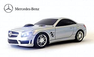 Mercedes benz sl63 amg wireless mouse silver for Mercedes benz accessories amazon