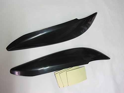 (2) Black eyelids eyelid eyebrow headlight Covers for Vauxhall Opel Astra G MK4 (Opel Astra G Headlights compare prices)