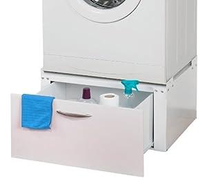 Meuble de support pour machine à laver avec tiroir Solid 1