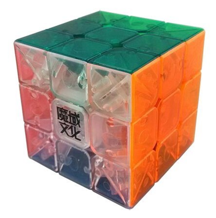 MoYu AoLong V2 3x3x3 Enhanced Edition Stickerless Speed Cube (1 Piece), Transparent