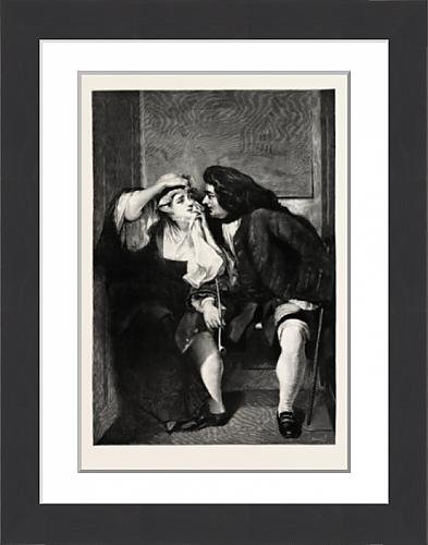 framed-print-of-uncle-toby-and-widow-wadman-picture-by-cr-leslie-engraving-1890