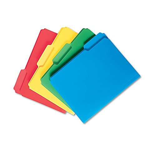 Smead 1/3 Tab Waterproof Poly File Folders, Assorted Colors (Letter, 24 ct.) by Smead