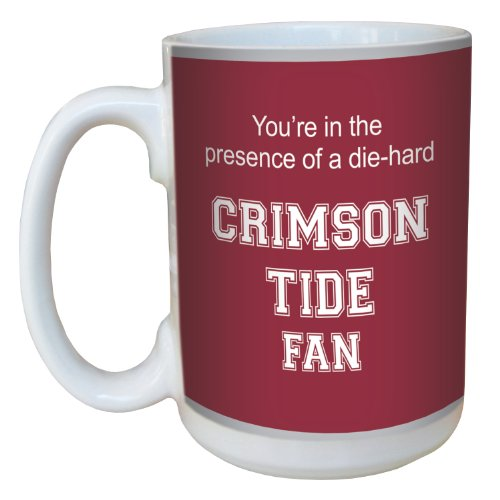 Tree-Free Greetings Lm44622 Crimson Tide College Basketball Ceramic Mug With Full-Sized Handle, 15-Ounce