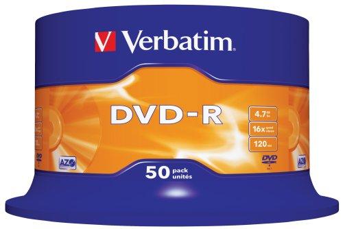 Verbatim 50 x DVD-R 4,7 Go 16x Spindle dans actualitas france 417mc5Ik4lL