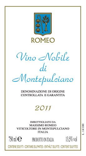 2011 Massimo Romeo Estates Docg Vino Nobilé Di Montepulciano 750 Ml