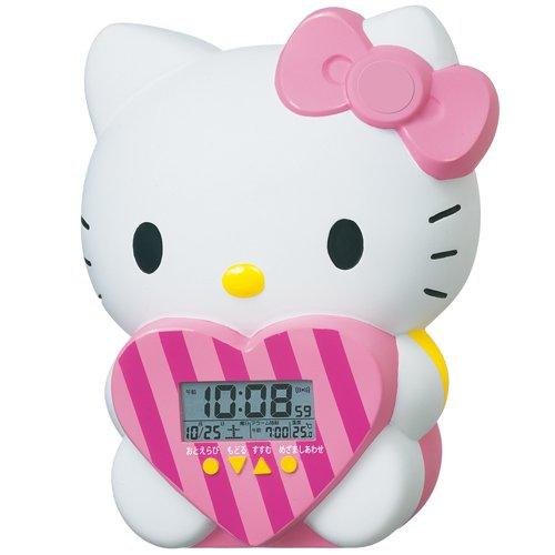 SEIKO CLOCK (Seiko) Hello Kitty anime alarm clock JF375A