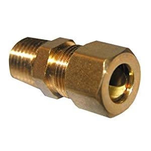 LASCO 17-6833 3/8-Inch Compression by 1/4-Inch Male Pipe Thread Brass Adapter