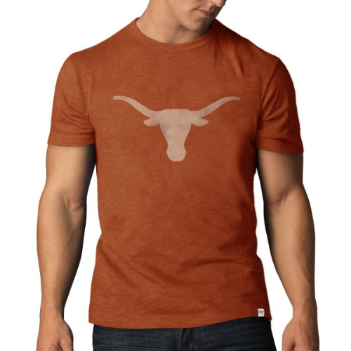 Ncaa University Of Texas Longhorns Retro Logo Scrum Tee By '47 Brand, Xx-Large front-598188
