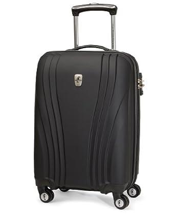 Atlantic Luggage Lumina 20 Inch Exp. Hardside Spinner, Black, One Size