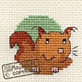 Mouseloft Mini Cross Stitch Kit Squirrel Friendly Planet Collection