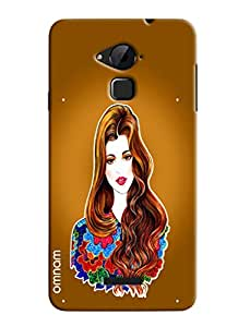 Omnam Girl Printed Cartoon Back Cover For Coolpad Note 3